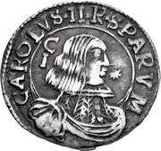 1 Reale - Carlo II – obverse