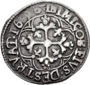 1 Reale - Carlo II – reverse