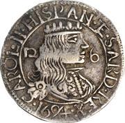 2½ Reali - Carlo II – obverse