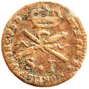 1 Soldo - Carlo Emanuele III – reverse