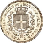 2 Lire - Carlo Alberto – reverse