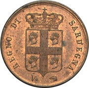 1 Centesimo - Carlo Alberto – obverse