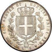 5 Lire - Carlo Alberto – reverse