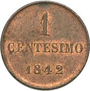 1 Centesimo - Carlo Alberto – reverse