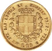 10 Lire - Vittorio Emanuele II – reverse