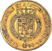 20 Lire - Vittorio Emanuele I – reverse