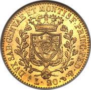 20 Lire - Carlo Felice – reverse