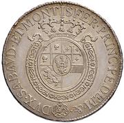 ½ Scudo - Vittorio Emanuele I – reverse