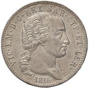 5 Lire - Vittorio Emanuele I – obverse