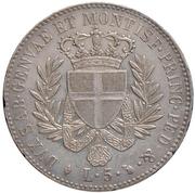 5 Lire - Vittorio Emanuele I – reverse
