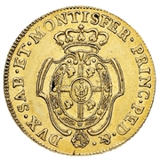 5 Doppiette - Vittorio Amedeo III – reverse