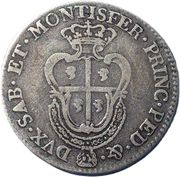 ¼ Scudo - Carlo Emanuele III – reverse