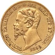 20 Lire - Vittorio Emmanuel II – obverse