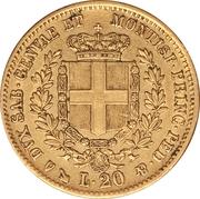 20 Lire - Vittorio Emmanuel II – reverse