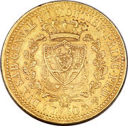 40 Lire - Carlo Felice – reverse