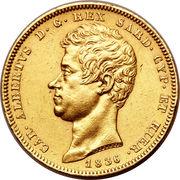 100 Lire - Carlo Alberto – obverse