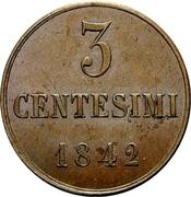 3 Centesimi - Carlo Alberto – reverse