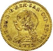 ½ Doppia - Carlo Emanuele III -  obverse