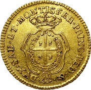 ½ Doppia - Carlo Emanuele III -  reverse