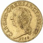 1 Doppia - Carlo Emanuele III – obverse