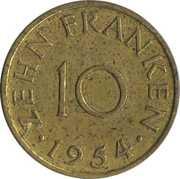 10 Franken – reverse