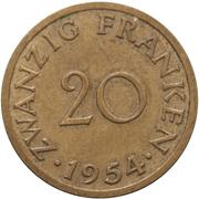 20 Franken – reverse