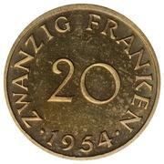 20 Franken (Trial Strike) – reverse