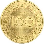 100 Franken (Essai) – reverse