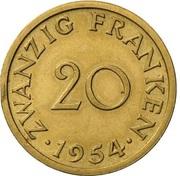 20 Franken (Essai) – reverse