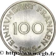 100 Franken (Trial Strike medium lines) – reverse