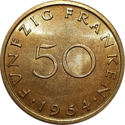 50 Franken – reverse