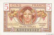 5 francs Trésor français (type 1947) – obverse