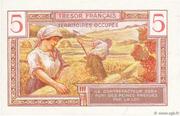 5 francs Trésor français (type 1947) – reverse