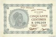 50 centimes Mines Domaniales de la Sarre (type 1920) – obverse