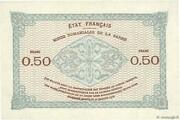 50 centimes Mines Domaniales de la Sarre (type 1920) – reverse