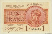 1 franc Mines Domaniales de la Sarre (type 1920) – obverse