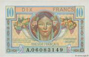 10 francs Trésor français (type 1947) – obverse