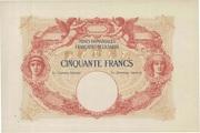 50 francs Mines Domaniales de la Sarre (type 1920) – obverse