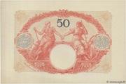 50 francs Mines Domaniales de la Sarre (type 1920) – reverse