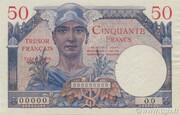 50 francs Trésor français (type 1947) – obverse