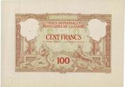 100 francs Mines Domaniales de la Sarre (type 1920) – obverse