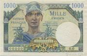 1000 francs Trésor français (type 1947) – obverse