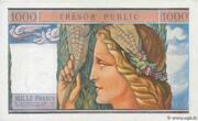 1000 francs Trésor public (type 1955) – reverse