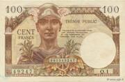 100 francs Trésor public (type 1955) – obverse
