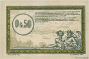 50 Centimes - Régie des Chemin de Fer en Territoires Occupés – reverse