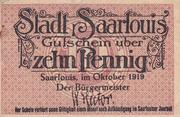 10 pfennig (Saarlouis) – obverse