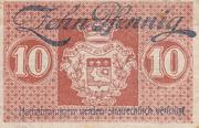 10 pfennig (Saarlouis) – reverse