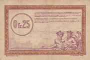 0.25 Francs (RCFTO) – reverse