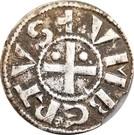 Denier sécusain Humberto II comte de Savoie (1080-1103) – obverse