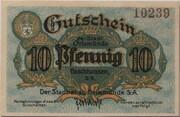 10 Pfennig (Orlamünde) – obverse